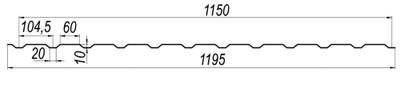Линия для производства кровельного профнастила C10